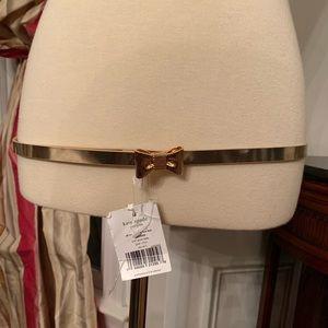 Kate Spade Gold Bow Belt M/L New w/tags